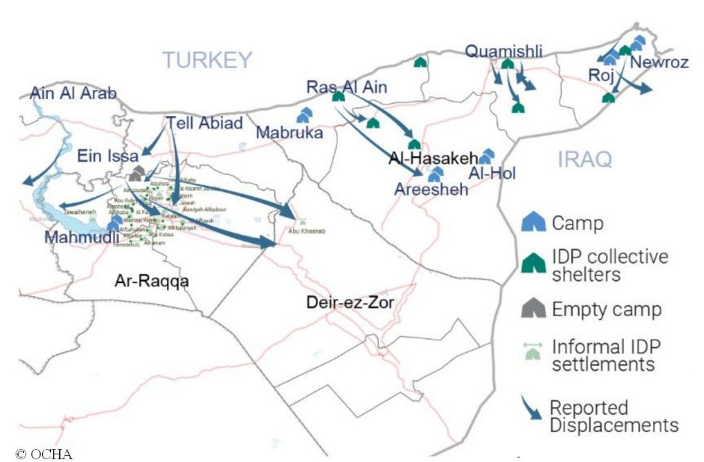 Karte Syrien, OCHA