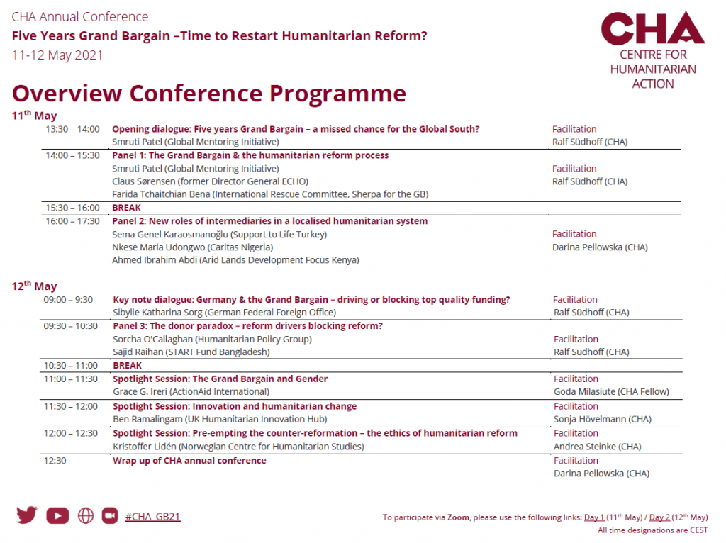 Grand Bargain Conference Agenda