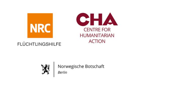 Logos von NRC, CHA und Norwegische Botschaft